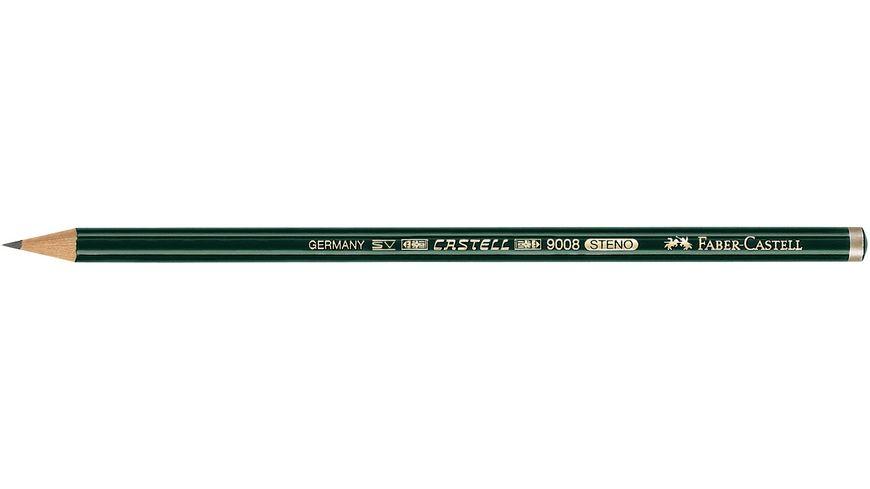 FABER CASTELL Bleistift CASTELL 9008 Stenostift 2B