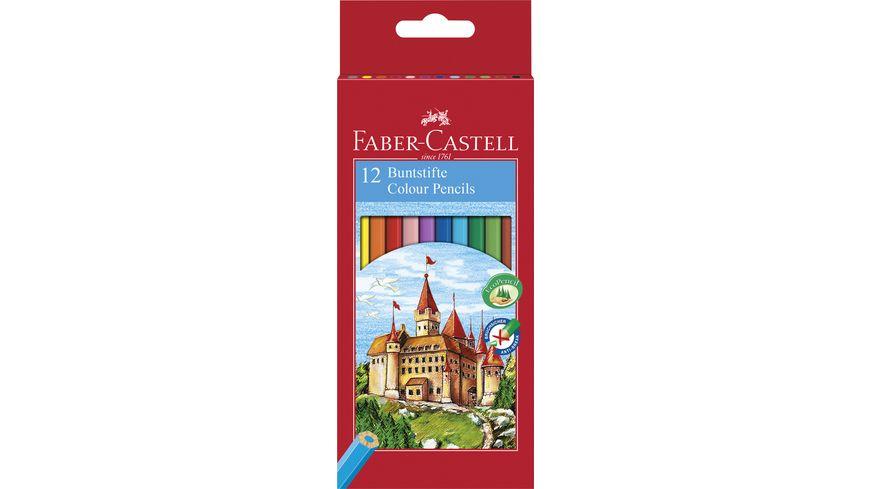 FABER CASTELL Farbstift CASTELL ECO 12er Kartonetui