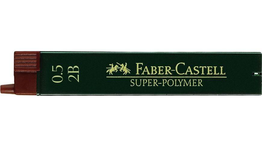 FABER CASTELL Feinminen CASTELL 0 5 2B 12er Dose