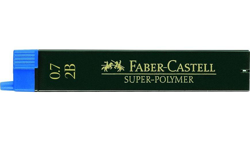 FABER CASTELL Feinminen CASTELL 0 7 2B 12er Dose