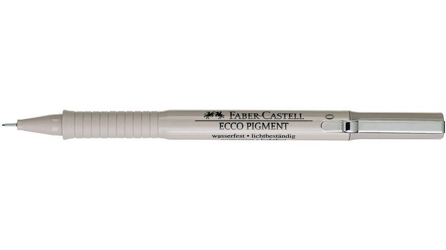 FABER CASTELL Tintenschreiber ECCO PIGMENT 0 1 mm schwarz