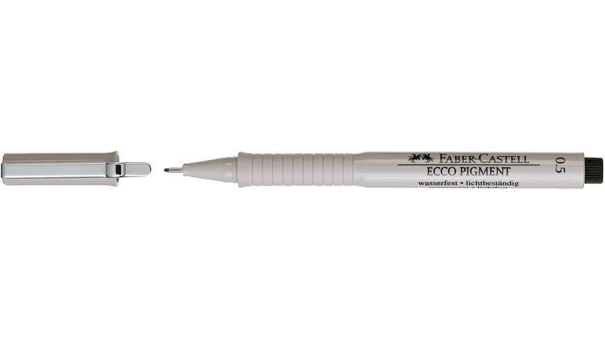 FABER CASTELL Tintenschreiber ECCO PIGMENT 0 5 mm schwarz