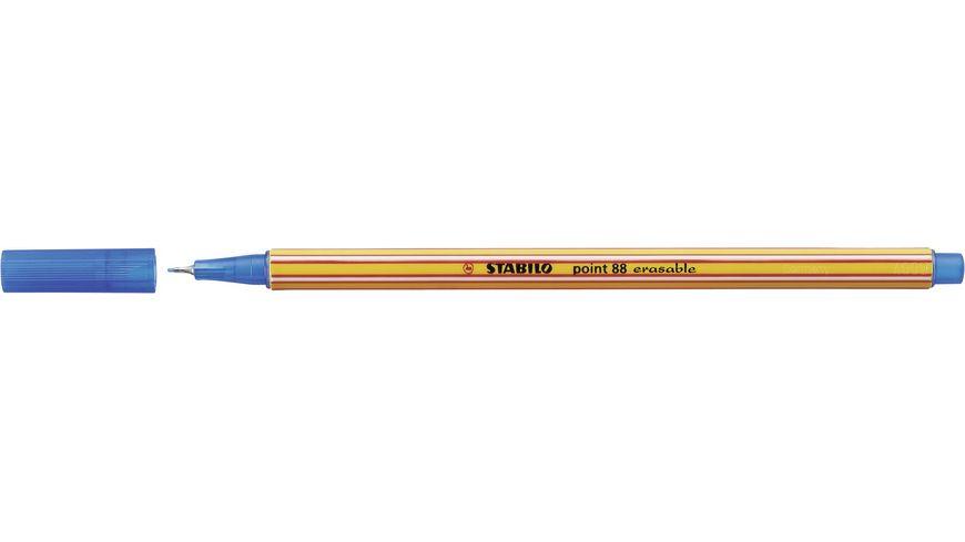 STABILO Fineliner mit loeschbarer Tinte point 88 erasable