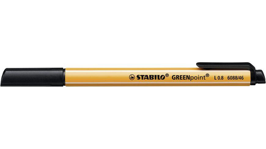 STABILO Umweltfreundlicher Filzschreiber GREENpoint