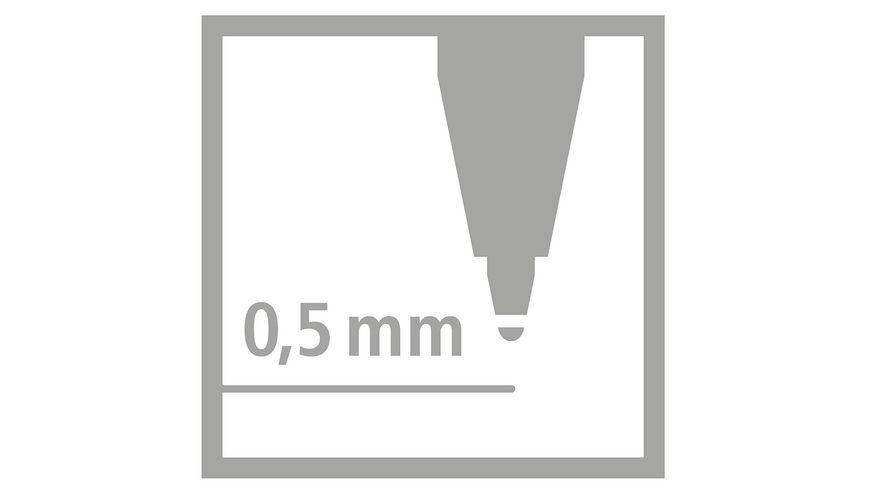 STABILO Patrone fuer EASYoriginal und FUN 0 5mm loeschbar blau