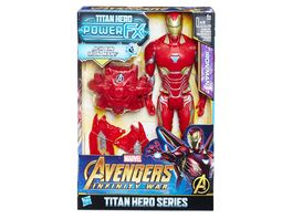 Hasbro Avengers Marvel Titan Hero Iron Man mit Power FX Pack