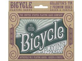Bicycle Poker Kartendeck Autocycle No 1 Limited Edition Pokerkarten in Metallbox