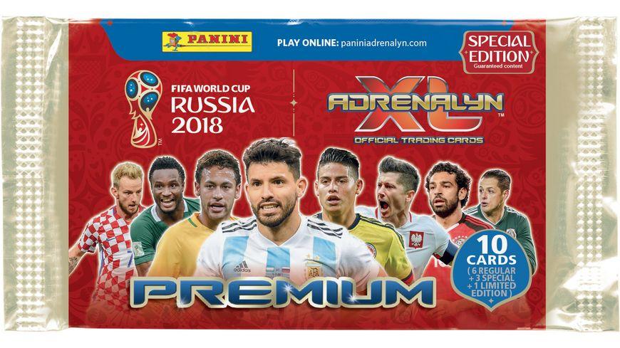 Panini FIFA World Cup Russia 2018 PREMIUM Special Edition 10 Karten pro Tuete davon garantiert 3 Special Cards 1 von 8 1 limited Edition Card