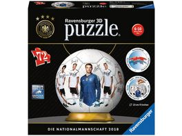 Ravensburger Puzzle 3D Puzzle Ball DFB Teamball 72 Teile
