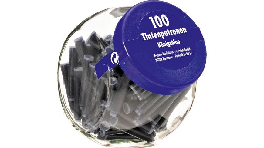 Kreuzer Tintenpatronen im Glas 100 Stueck