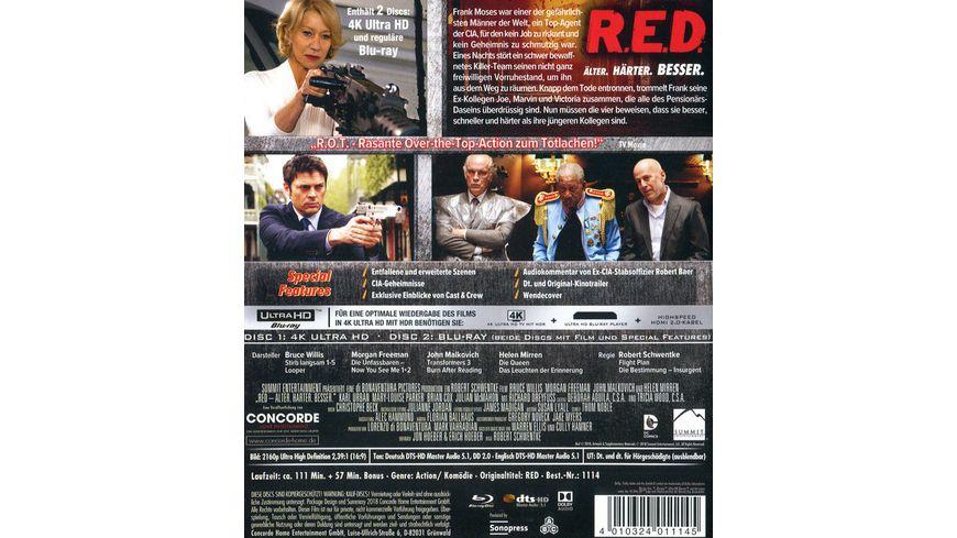 R E D Aelter Haerter Besser 4K Ultra HD Blu ray