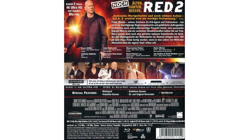 R E D 2 Noch Aelter Haerter Besser 4K Ultra HD Blu ray