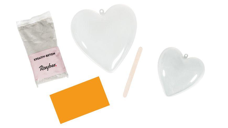 Rayher Bastelpackung Herz Betonschale SB Blisterbox 1Set