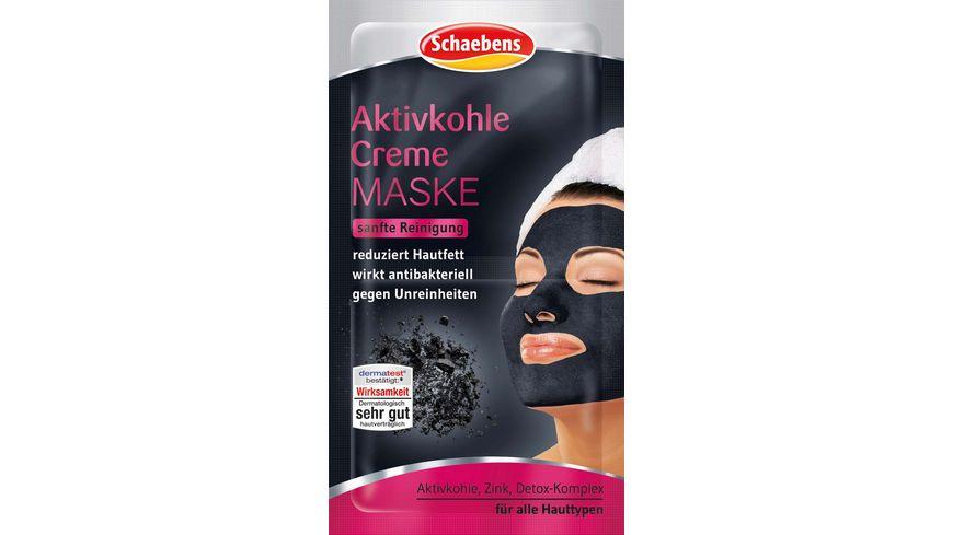 Schaebens Creme Maske Aktivkohle