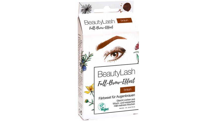 BeautyLash Full Brow Effect Faerbeset fuer Augenbrauen Braun