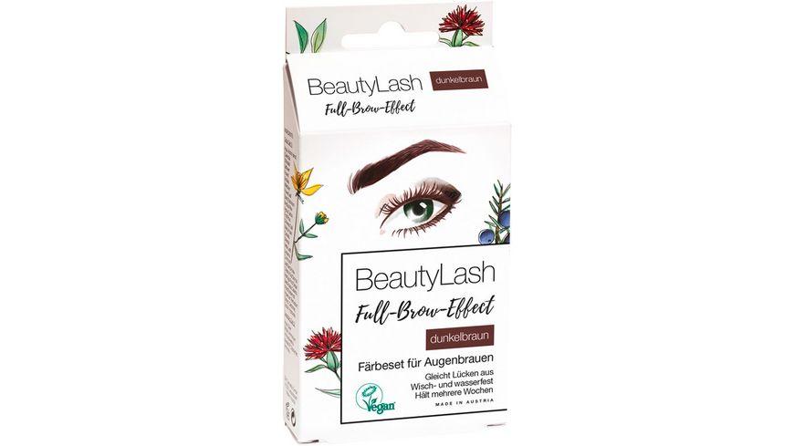 BeautyLash Full Brow Effect Faerbeset fuer Augenbrauen Dunkelbraun