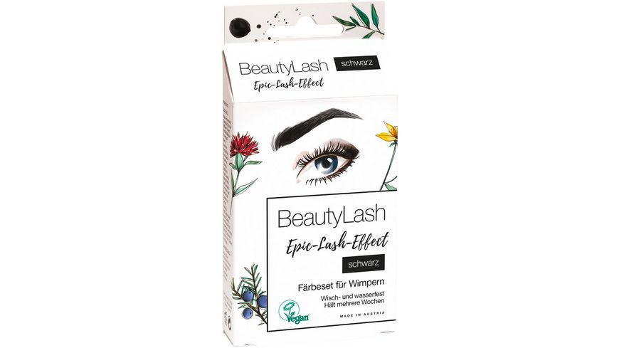 BeautyLash Epic Lash Effect Faerbeset fuer Wimpern Schwarz