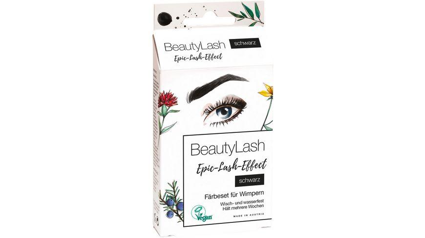 BeautyLash Faerbeset fuer Augenbrauen und Wimpern schwarz
