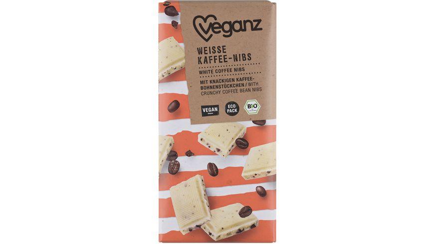 BIO Veganz Weisse Rice Choc Kaffee Nibs