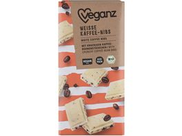 Veganz BIO Weisse Rice Choc Kaffee Nibs