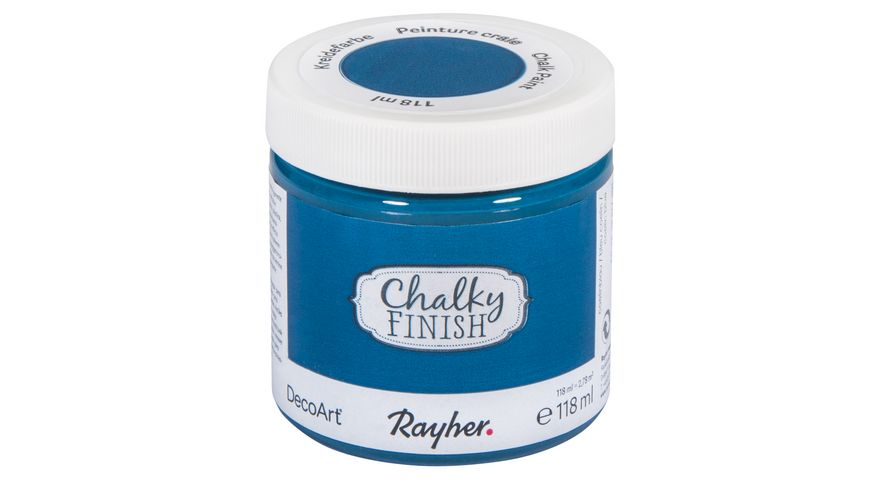 Rayher Chalky Finish Dose 118ml coelinblau
