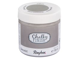Rayher Chalky Finish Dose 118ml hellgrau