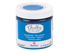 Rayher Chalky Finish Dose 118ml azurblau