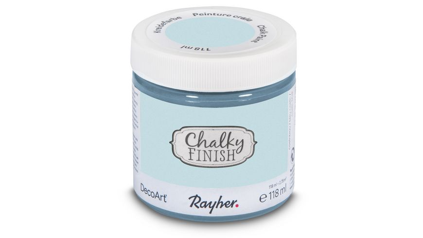 Rayher Chalky Finish Dose 118ml blaugrau