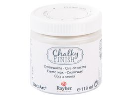 Rayher Chalky Finish Cremewachs Dose 118ml farblos
