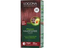 LOGONA Pflanzen Haarfarbe Pulver 050 Mahagonibraun