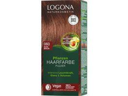 LOGONA Pflanzen Haarfarbe Pulver 060 Nussbraun