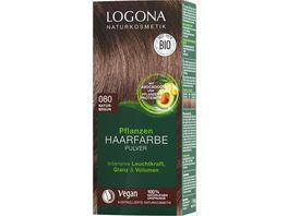 LOGONA Pflanzen Haarfarbe Pulver 080 Naturbraun