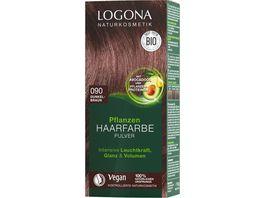 LOGONA Pflanzen Haarfarbe Pulver 090 Dunkelbraun