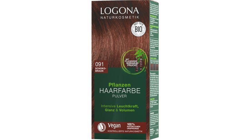 LOGONA Pflanzen Haarfarbe Pulver 091 Schokobraun