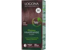 LOGONA Pflanzen Haarfarbe Pulver 092 Rotbraun