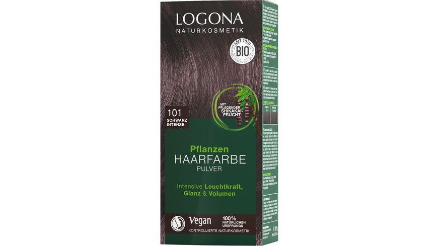 LOGONA Pflanzen Haarfarbe Pulver 010 Schwarz Intense