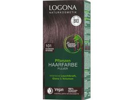 LOGONA Pflanzen Haarfarbe Pulver 010 Schwrz Intense