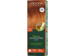 LOGONA Pflanzen Haarfarbe Creme 210 Kupferrot