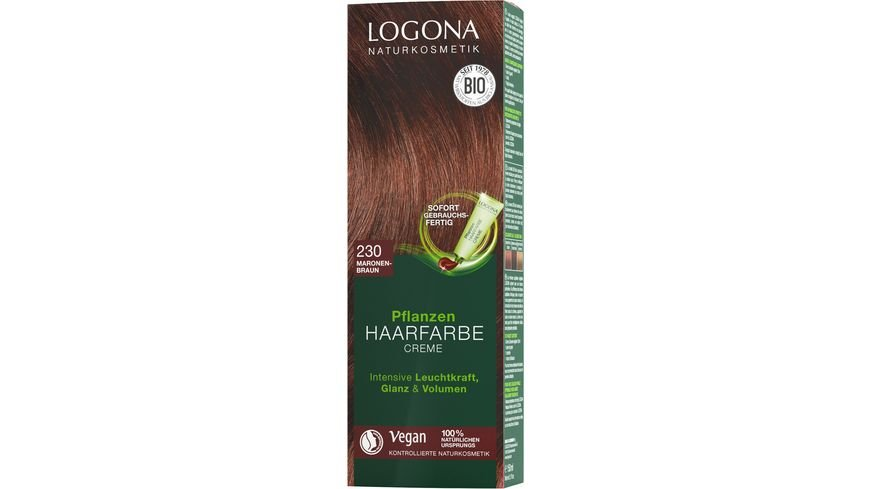 LOGONA Pflanzen Haarfarbe 230 Maronenbraun