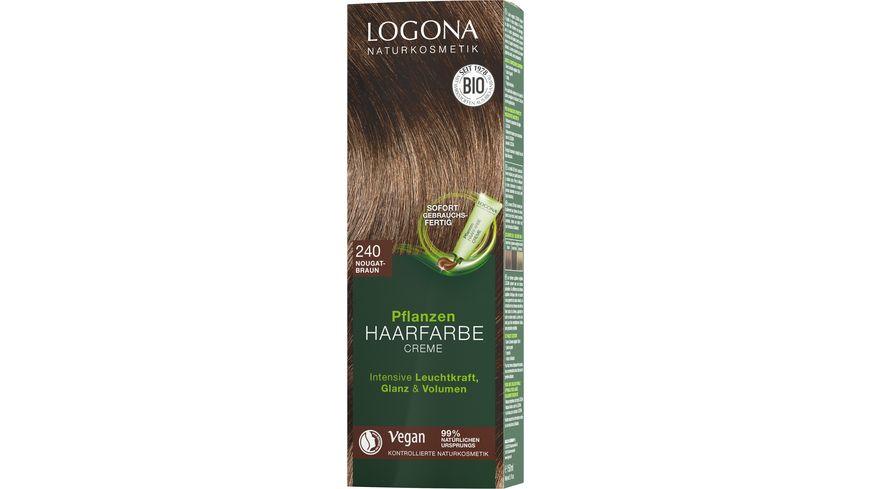 LOGONA Pflanzen-Haarfarbe Creme 240 Nougatbraun online bestellen ...