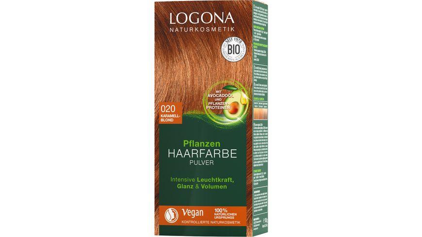 LOGONA Pflanzen Haarfarbe Pulver 020 Karamellblond