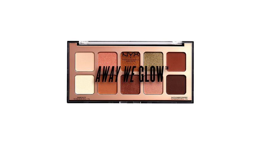 NYX PROFESSIONAL MAKEUP Lidschatten Away We Glow Shadow Palette