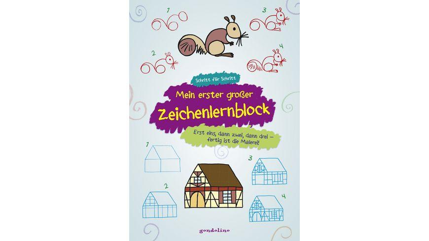 Buch gondolino Mein erster grosser Zeichenlernblock