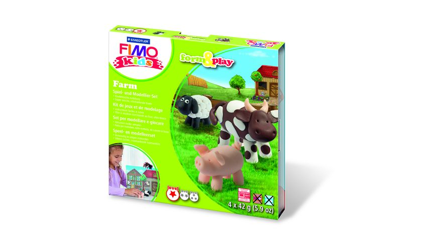 FIMO KIDS FORM PLAY FARM 4 x 42 g