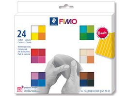 STAEDTLER Modelliermasse FIMO Basic Colours 24er Pack