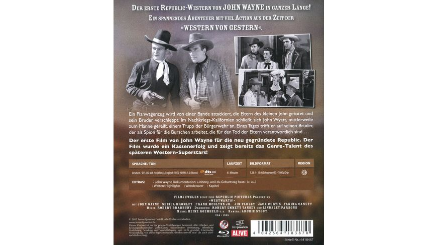 Westwaerts John Wayne