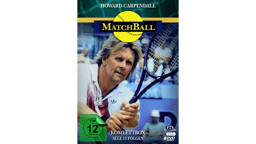 Matchball Komplettbox Tennis Serie mit Howard Carpendale Fernsehjuwelen 3 DVDs