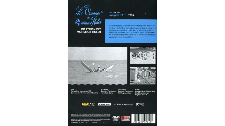 Die Ferien des Monsieur Hulot Digital Remastered