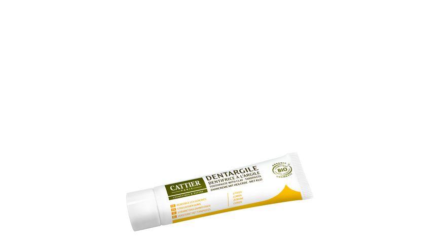 CATTIER Zahncreme mit Heilerde Zitrone