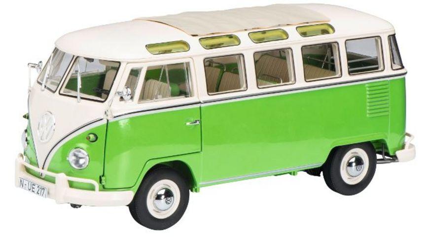 Schuco Edition 1 18 Limited Edition VW T1b Samba gruen beige